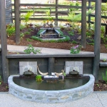 Series of gravity fed water features