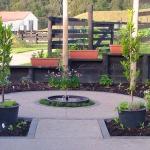 Circular herb garden